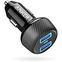 Car Charger [UPGRADED] Anker PowerDrive 2 Elite, Ultra-Compact 24W Dual Port Car Charger with PowerIQ Technology for Apple, Samsung, and other iOS or Android Mobile Phones and Tablets