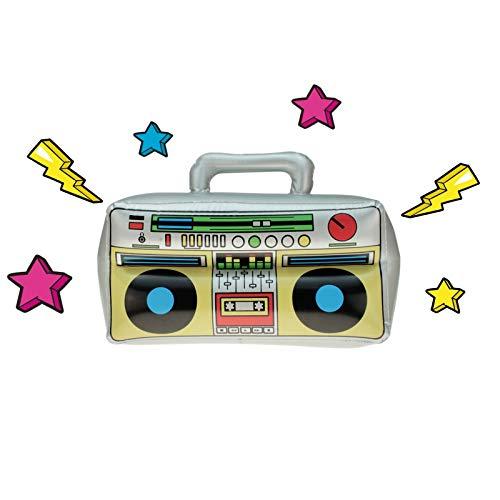 ufblasbarer Ghettoblaster 42 x 28 cm, Boombox, Hip Hop Radio Walkman 80er 90er Party, geeignet für jegliche Feiern, Geburtstag, Fete, Hochzeit, Motto-Party etc ()