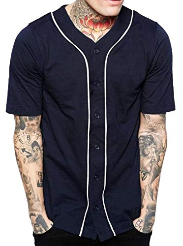 BingSai - Camiseta de Manga Corta para Hombre, diseño de Equipo de béisbol