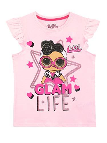 LOL Surprise Mädchen T-Shirt Rosa 116 - Mädchen Glitzer T-shirt