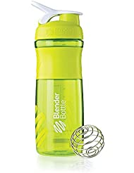 BlenderBottle Sportmixer Tritan Shaker | Protein Shaker | Wasserflasche | Diät shaker (820ml) - grün transparent