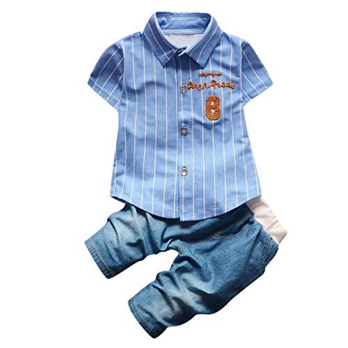 Pageantry Zweiteiliges Set 1-6 Jahre Kleinkind Baby Boy Gentleman Suit Cowboy Fliege T-Shirt Shorts Hosen Outfit Set Drucken Streifen Kleidung Set Tier t-Shirt Mit Shorts Anzug