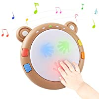tumama Baby Musical Electronic Toys,Early Educational Babies Light up Drum Baby Musical Instruments Sensory Baby Toy Musical Toys Gift for Infants,Toddlers,Boys,Girls,6,7,8,9,10,11,12 Months&Up
