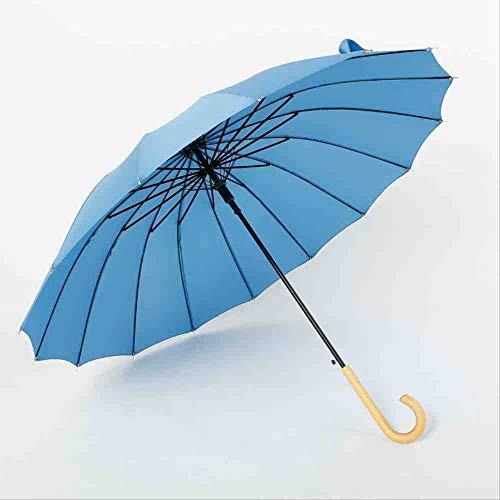 QNBD Holz Langgriff Regenschirm Regenschirm Regenschirm Regenschirm Regenschirm Farbe RegenschirmBlauerRegenschirm