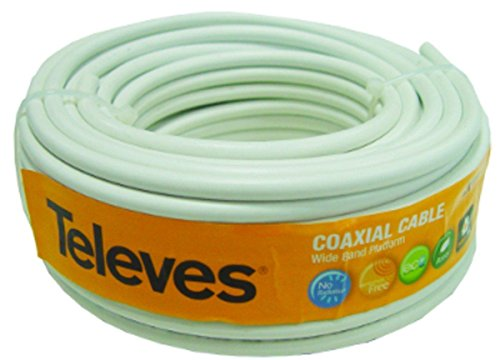 Foto de Televes 435501 - Rollo de cable coaxial (20 metros) color blanco