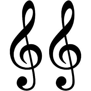 Violinschlüssel 25cm schwarz Notenschlüssel Auto Note Aufkleber Tattoo Dekofolie