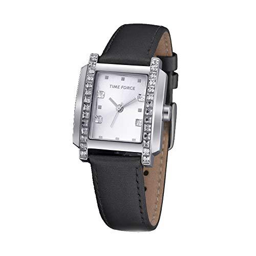 TIME FORCE Reloj Analógico para Mujer de Cuarzo con Correa en Cuero TF-3394L07