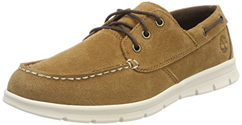 Timberland Graydon Leather, Zapatos de Cordones Oxford para Hombre, Marrón (Rust Front 643), 46 EU