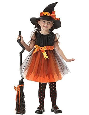 ShallGood Halloween Kostüm Für Jungen Mädchen Hexe Wonder Girls Mit Stirnband Kinder Kostüm Kleinkind 90Cm Umhang Held Cosplay Hexe (Kellnerin Kostüm Kind)