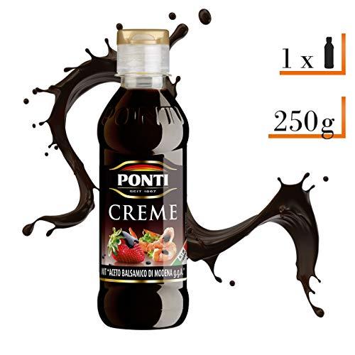 Ponti Creme Aceto Balsamico di Modena g.g.A. 1 x 200 ml - typisch italienische Balsamico Creme - feine Crema di Balsamico - mit süßsaurer Geschmacksnote