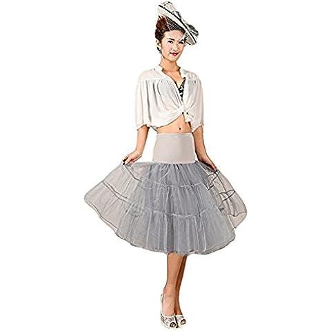 Hosaire 1X Sottogonna battenti Vintage Petticoat Fancy Net Gonna Rockabilly Tutu (Grigio), Le ragazze e le donne sono la scelta migliore, Gonne,XL