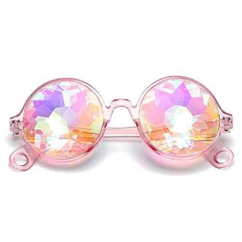 JIAW 2019 Sonnenbrille Kaleidoscope Psychedelic Mosaik-Gläser Nachtshow Kostüme mit Party-Tanz-Kleid Coole Sonnenbrille (Coole Kostüm Für Tanz)