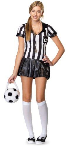 Jugendliche Schiedsrichterin Kostüm Set, Größe M/L, schwarz/weiß ()