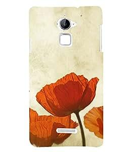 Beautiful Orange Flowers 3D Hard Polycarbonate Designer Back Case Cover for Coolpad Note 3 Lite :: Coolpad Note 3 Lite Dual SIM