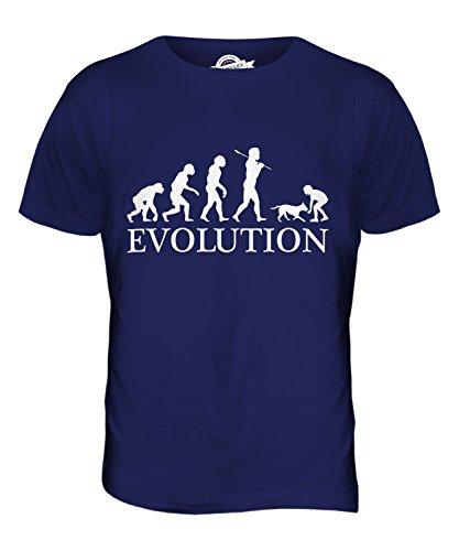 CandyMix Ragazza Con Il Cane Evoluzione Umana T-Shirt da Uomo Maglietta Blu Navy