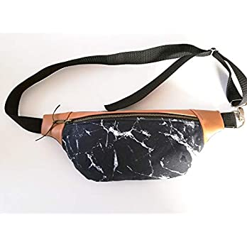 Crossbody Bag, Hüfttasche Marmor, Handmade