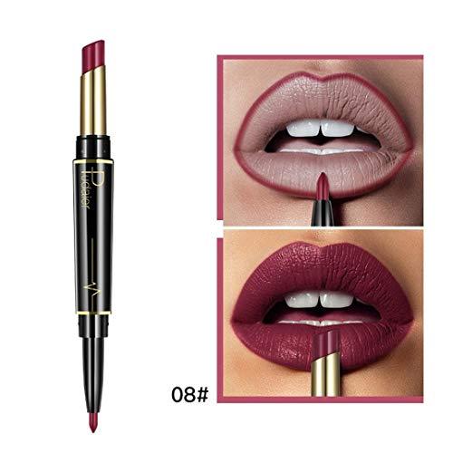 Missoul Double-end Lasting Lipliner Waterproof Lip Liner Stick Pencil 16 Color (H) 1080p High Gloss