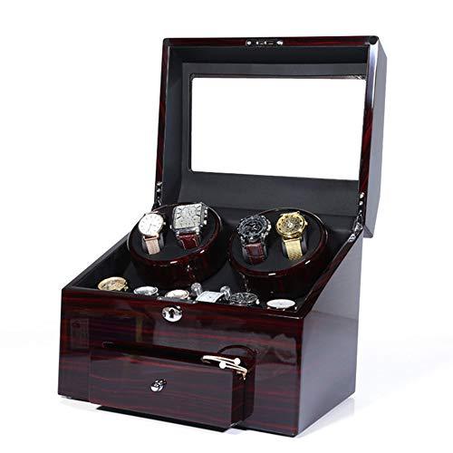 bxbx Automatischer Uhrenbeweger Mit 4 Uhrenbewegerpositionen Und 9 Display-Speicherplätzen Mit Schublade 0 Magnetisierung Einfach Zu Säubern Uhrenbeweger Box