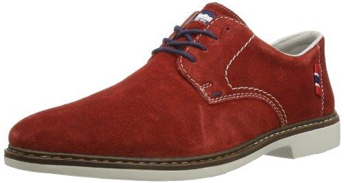 Rieker Rieker Herren Schnürer 14, Chaussures de ville homme Rouge (Mohn / 35)