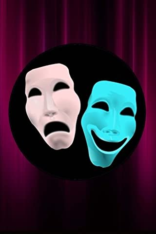 Comedy and Tragedy Theater Masks Journal: 150 page lined notebook/diary