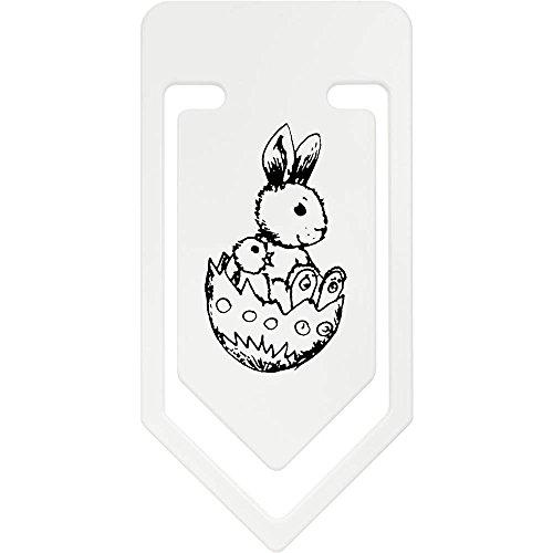 Azeeda 141mm 'Häschen und Küken im Ei' Riesige Plastik Büroklammer (CC00018644)