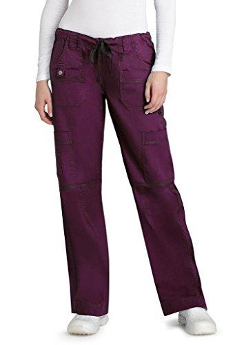 adar-pop-stretch-junior-fit-low-rise-multi-pocket-straight-leg-pants-3100-plum-xxs
