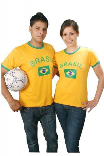 Brubaker–Brasil Fan Camiseta de Amarillo, Tallas S–XXXL Amarillo 50