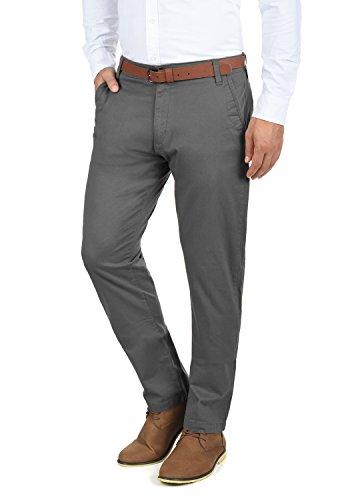 SOLID Machico Herren Chino-Hose lange Business Hose Casual aus hochwertiger Baumwollmischung Regular Fit , Größe:W31/34, Farbe:Dark Grey (2890)
