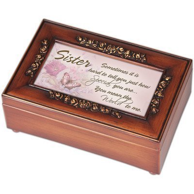 Cottage Garden Petite Rose Sister Music Box by Cottage Garden