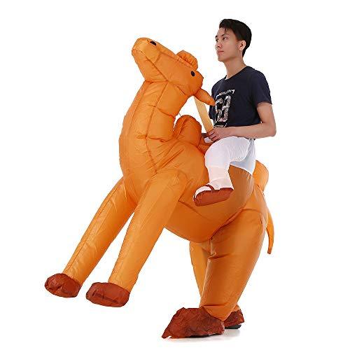 Lebeaut Erwachsene Kamel aufblasbare Kostüm Requisiten sprengen aufblasbare Kostüm für Halloween Cosplay Party Stage - Kamel Für Erwachsene Kostüm