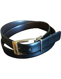 Perry Ellis Men's Reversible Leather Brown Black No Stitch Dress Belt 38