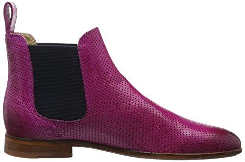 Melvin Salerno Damen Hamilton Ela Boots 10 Magenta Pink Navy Susan Chelsea NAT LS Perfo amp; BBFSrKq1p