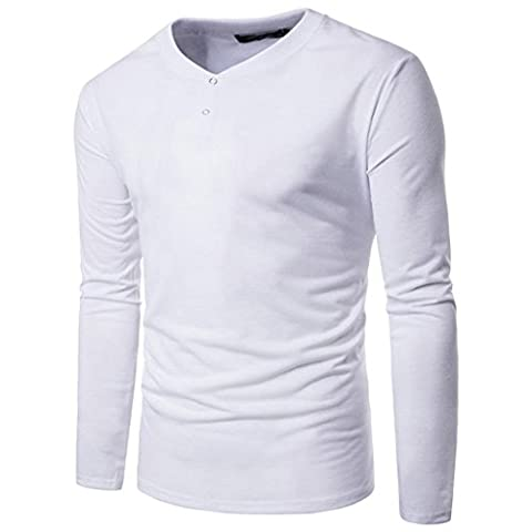 Herren Top Sonnena Casual Business Slim Fit Hemd Long Sleeve Shirt Solid Bluse M weiß