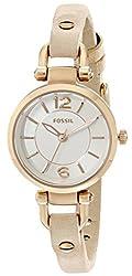 Fossil Georgia Mi Analog White Dial Womens Watch - ES3745
