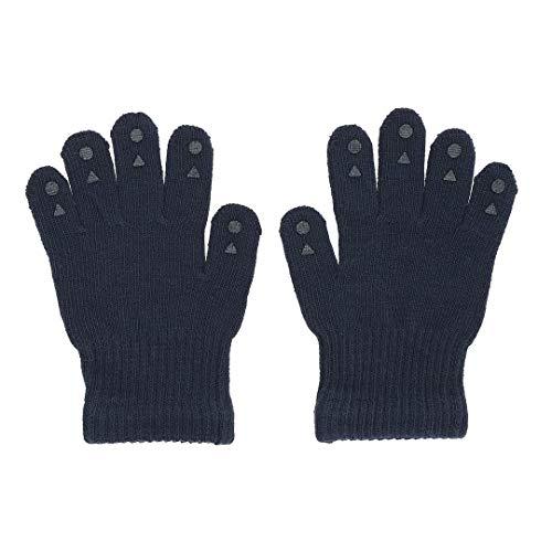 GoBabyGo Original rutschfeste Fingerhandschuhe für Babys und Kleinkinder | ABS Fäustlinge in Baumwollstretch | 1-2J | Navy Blue