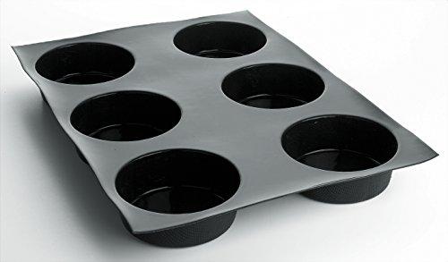 Tartes tatin - Quiches flexipan professionnelles 600 x 400 mm, à 12 empreintes Ø 105 x H 40 mm