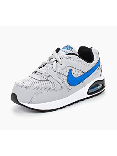Nike Unisex Baby Air Max Command Flex (td) Hausschuhe, Mehrfarbig (Wolf Grey/Signal Blue/Black/White 007), 21 EU (Max Baby Blue Air)