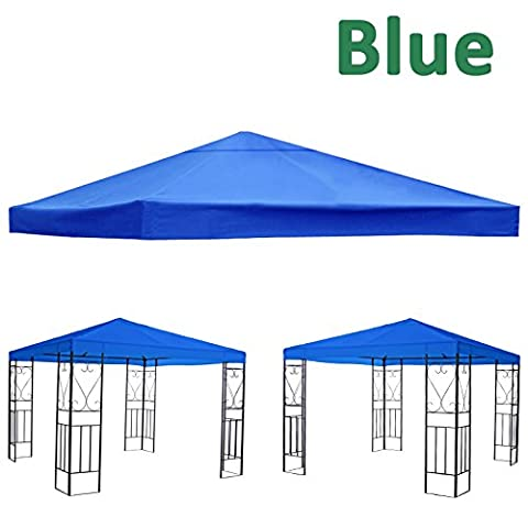 Greenbay 1-Tier Replacement Top Fabric for 3x3m Gazebo Pavilion Roof Canopy Blue