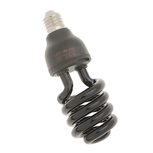 Baoblaze E27 UV Lampe Glühbirne Glühlampe Schwarzlicht Energiesparlampe Nachtlicht 220V 20W/40W - 40W Spiral (Uv-lampe Langwellige)
