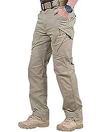 Modaily Pantalones Largos Impermeables de Trabajo para Hombres con Bolsillos Pantalones Sueltos