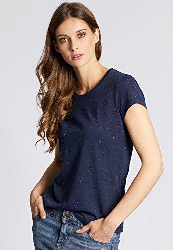 Khujo T-Shirt de Sport - Manches Longues - Femme Bleu