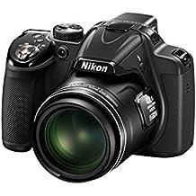 """Nikon Coolpix P530 - Cámara compacta de 16.1 Mp (pantalla de 3"""", zoom óptico 42x, estabilizador electrónico, vídeo Full HD), negro - Kit cámara con estuche, libro, garantía 5 años, 1 año cobertura robo y curso Coolpix"""