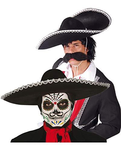 Horror-Shop Day of The Dead Sombrero für die Halloween Party & Tag der Toten Events