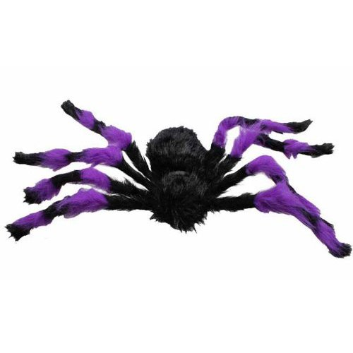 Spider Halloween Plush - Black and Purple - 75cm 29""