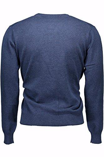 GANT Herren Pullover LT. WEIGHT COTTON V-NECK, Einfarbig Blau