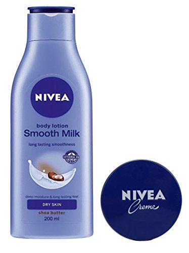 Nivea Smooth Body Milk, 200ml with Free Nivea Crème, 60ml