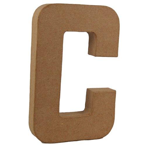 country-love-crafts-825-inch-205cm-3d-letter-c-papier-mache