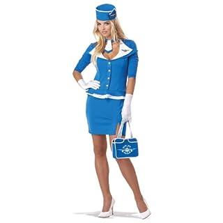 Generique - Blaues Stewardess-Kostüm für Damen XL (44/46)