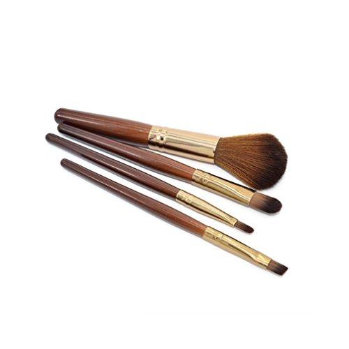 Ouneed® brosse/ 4 pcsMaquillage professionnelle brosse douce Maquillage des cheveux Brosses Fondation Pinceau Poudre