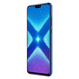 Honor 8X Dual SIM, 64GB storage, 20 MP Dual Camera and 6.5 Inch Full View Display, UK Official Device - Blue